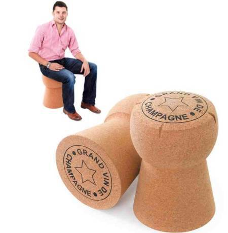 Champagne cork stool by Too Rich